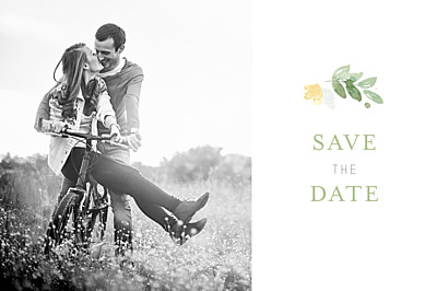 Save The Date Cards English garden green finition