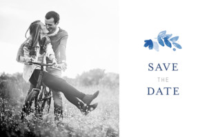 Save The Dates English garden blue