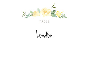Table Numbers English garden green
