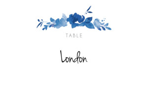 Table Numbers English garden blue