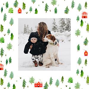 Marguerite courtieu evergreen green red christmas cards