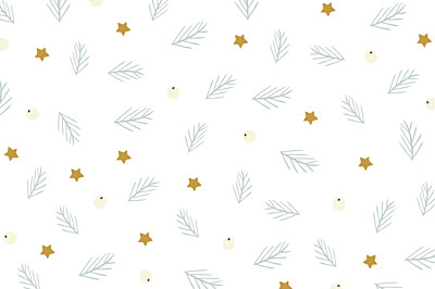 Notecards Whimsical winter white finition