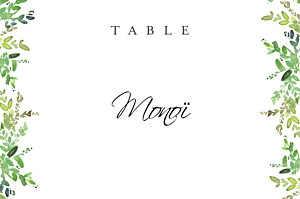 Canopy green table numbers