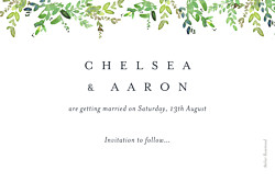 Save The Dates Canopy green