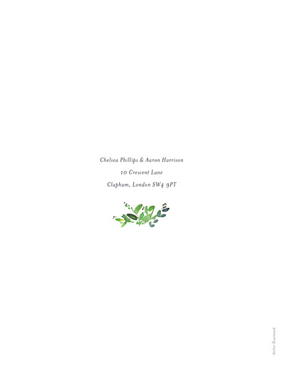 Wedding Invitations Canopy green