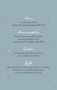 Summer night blue guest information cards