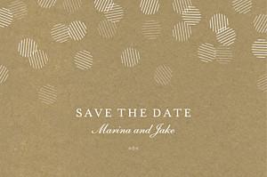 Celebration kraft save the date cards