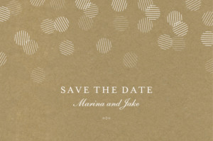 Save The Dates Celebration kraft