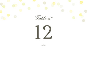 Table Numbers Celebration kraft