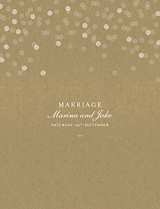Celebration kraft vintage wedding invitations