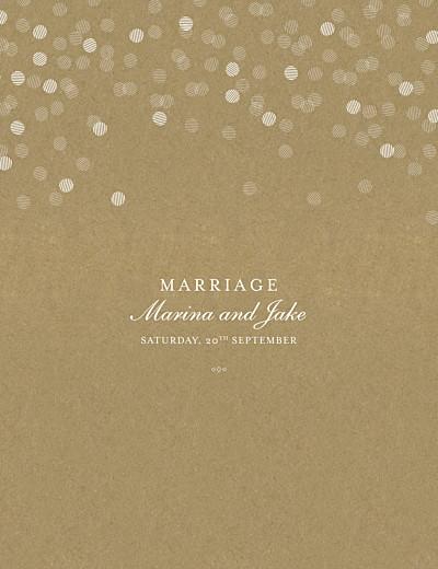 Wedding Invitations Celebration kraft finition