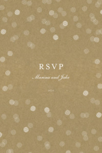 RSVP Cards Celebration kraft