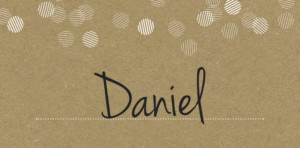 Place Cards Celebration kraft