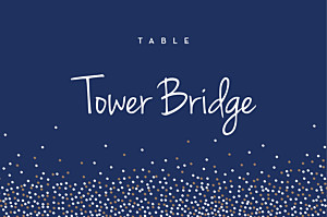 Table Numbers Confetti blue