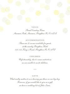 Guest Information Cards Celebration kraft