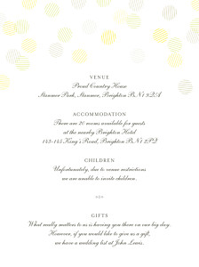 Celebration kraft guest information cards