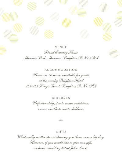 Guest Information Cards Celebration kraft finition