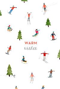 Christmas Cards Alpine white