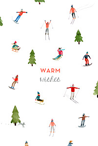 Alpine white christmas cards