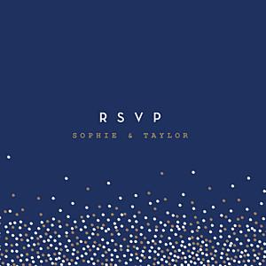 Confetti blue rsvp cards