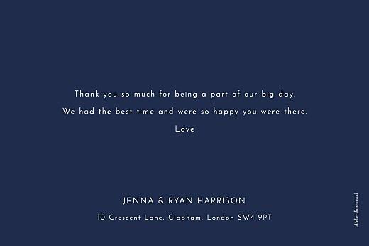 Wedding Thank You Cards Sparks fly (foil) navy blue