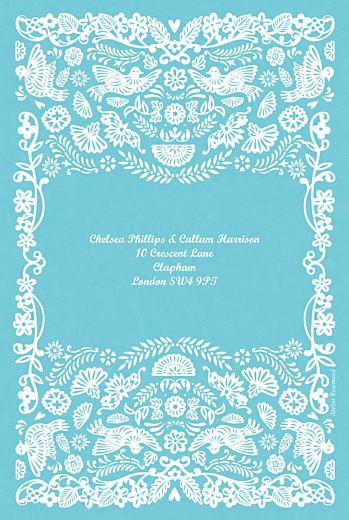 婚礼请柬帕佩尔皮卡(小型)蓝色 - 第2页