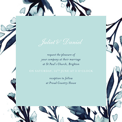 Wedding Invitations Midnight blue blue finition