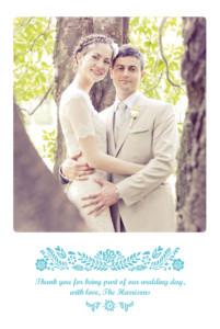 Wedding Thank You Cards Papel picado blue