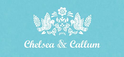 Wedding Gift Tags Papel picado blue