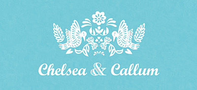 Wedding Gift Tags Papel picado blue finition
