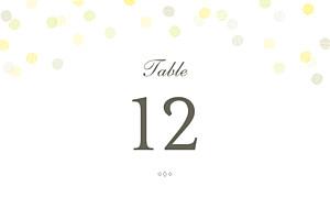 Table Numbers Celebration kraft
