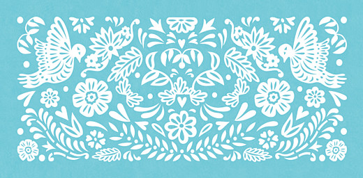 Wedding Place Cards Papel picado blue - Page 2