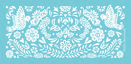 Wedding Place Cards Papel picado blue - Page 3
