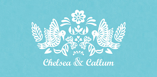 Wedding Place Cards Papel picado blue - Page 4