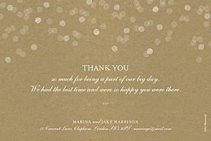 Celebration kraft green wedding thank you cards