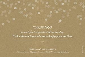 Celebration kraft vintage wedding thank you cards