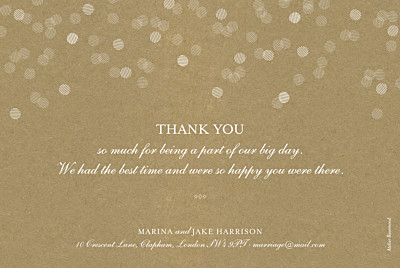 Wedding Thank You Cards Celebration kraft finition