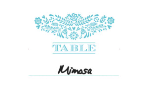 Table Numbers Papel picado blue