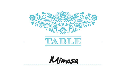 Wedding Table Numbers Papel picado blue