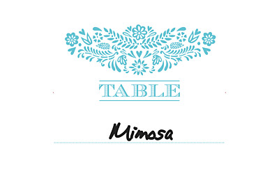 Wedding Table Numbers Papel picado blue finition