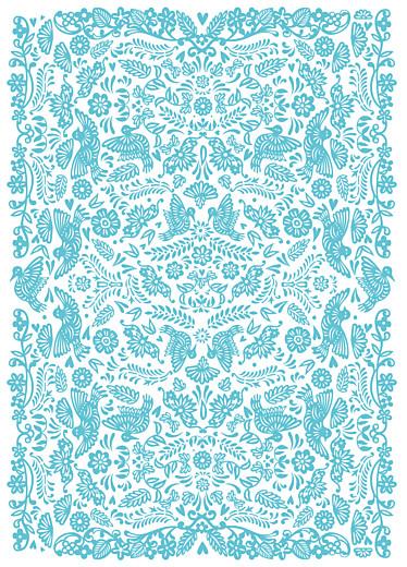 Wedding Order of Service Booklets Papel picado blue - Page 3