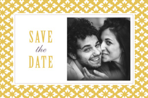 Save The Dates Radiance yellow