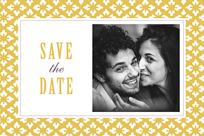 Save The Date Cards Radiance yellow finition