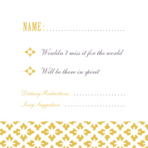 RSVP Cards Radiance yellow