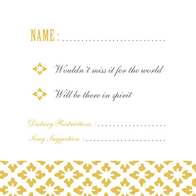 RSVP Cards Radiance yellow finition