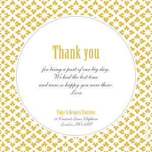 Mr & mrs clynk  radiance yellow wedding thank you cards