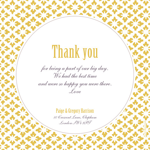 Wedding Thank You Cards Radiance yellow