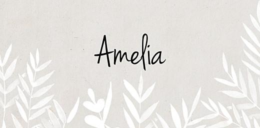 Wedding Place Cards Foliage gray