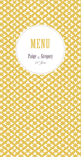 Wedding Menus Radiance yellow