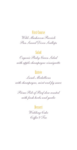 Wedding Menus Radiance yellow - Page 3